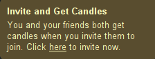 Invite and get candles