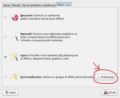 Schermata dell'aspetto di Ubuntu