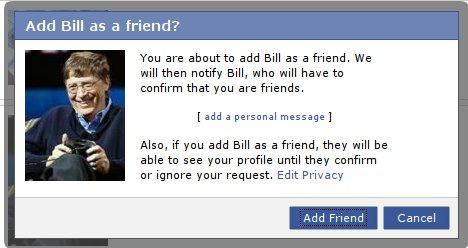 Bill Gates su Facebook