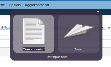 Schermata Gnome Do con Twitter plugin